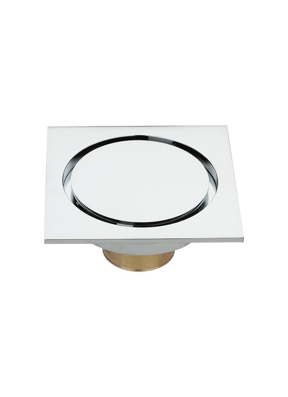 4 inch brass square floor drain with removable cover  TLA-06