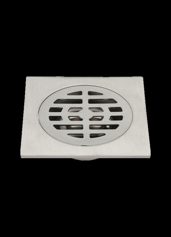10*10cm brass floor drain burshed nickel  TLA-03